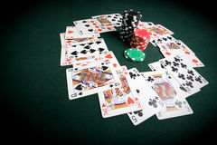 Casino poker table Royalty Free Stock Photography