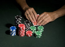 Casino poker table concept Stock Photos