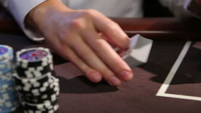 Casino. Poker table. stock footage