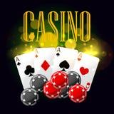 Casino poker vector poster design Royalty Free Stock Photos