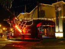 Casino por noche foto de archivo libre de regalías