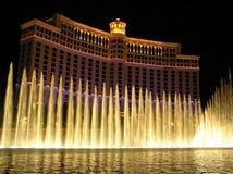 Casino por noche, Las Vegas, los E.E.U.U. de Bellagio Foto de archivo