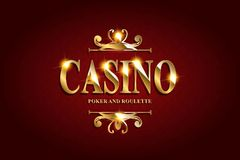 Casino Poster Background stock illustration