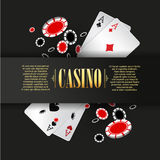 Casino poster or banner background or flyer template. Stock Photography