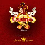 Casino Poster Illlustration Stock Photos