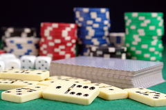 Casino props Royalty Free Stock Photos