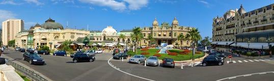 Casino quadrado de Monaco - panorama Fotos de Stock