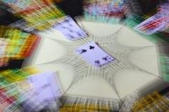 Casino que juega tarjetas del póker Foto de archivo