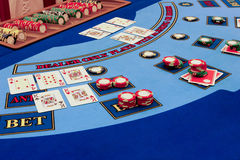 Casino - real game Royalty Free Stock Photos