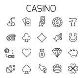 Casino related vector icon set. stock illustration
