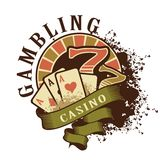 Casino retro logo on a white background royalty free illustration