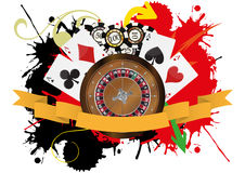 Casino ribbon Royalty Free Stock Photos