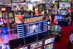 Casino room Jackpot slot machines royalty free stock image