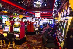 Casino room with slot machines Royalty Free Stock Images