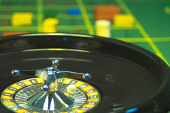 Casino roulette. At the casino in the roulette table Royalty Free Stock Photography