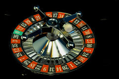 Casino roulette. At the casino in the roulette table Stock Photography