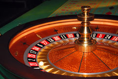 Casino roulette. With 21 as the winning number Royalty Free Stock Images