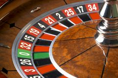 Casino Roulette. 0 And 21 Royalty Free Stock Photo