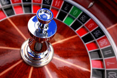 Casino Roulette. Close up of Casino Roulette Stock Photo