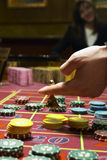 Casino, roulette. Close up view of the roulette royalty free stock images
