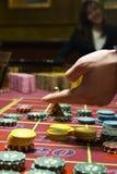 Casino, roulette Images libres de droits