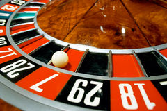 Casino, roulette. Win 7 Stock Photo