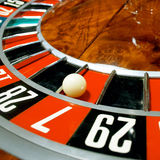 Casino, roulette. Close up view of  roulette whill Royalty Free Stock Photography