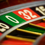 Casino, roulette. Close up view of  roulette whill Stock Photography