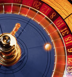 Casino roulette in action Stock Photo