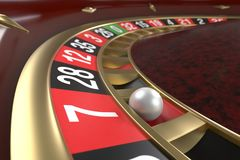 Casino roulette background. Close up of a roulette betting game. Luxury, good time, gaming addiction concept. Graphic design element for flyers, invitations Stock Photo