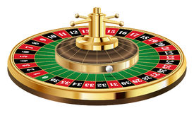 Casino roulette with ball  on a white background Stock Image