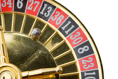 Casino roulette with ball on zero Royalty Free Stock Photo