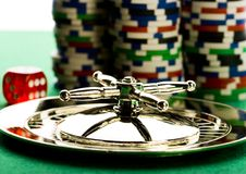 Casino - Roulette & Chips Royalty Free Stock Image