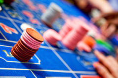 Casino roulette chips Stock Photography