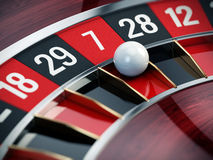 Casino roulette close up Stock Image
