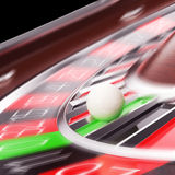 Casino Roulette closeup in motion Stock Images