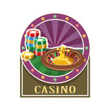 Casino. Roulette and counter Stock Image