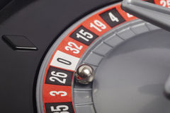 Casino roulette detail with ball in number seventeen. Gambling Stock Photography