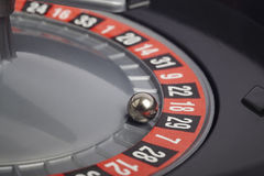 Casino roulette detail with ball in number twenty-nine. Gambling Stock Photography