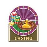 casino Roulette en teller Stock Afbeelding