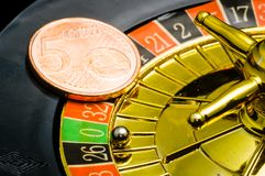 Casino Roulette an euros Stock Photos