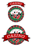 Casino roulette with gambling elements Royalty Free Stock Images