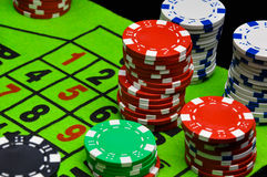 Casino, roulette, gambling games Royalty Free Stock Image