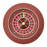 Casino roulette isolated on a white background Stock Images