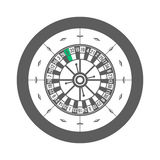 Casino Roulette Isolated on white background Vector Stock Photos
