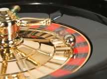 Casino roulette in motion Stock Photography