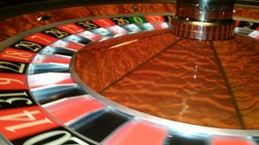 Casino roulette in motion stock video