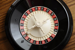 Casino roulette on the number thirteen Stock Images