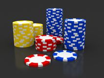 Casino Roulette's chips Stock Photography