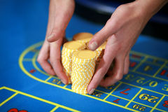 Casino roulette table Stock Photography